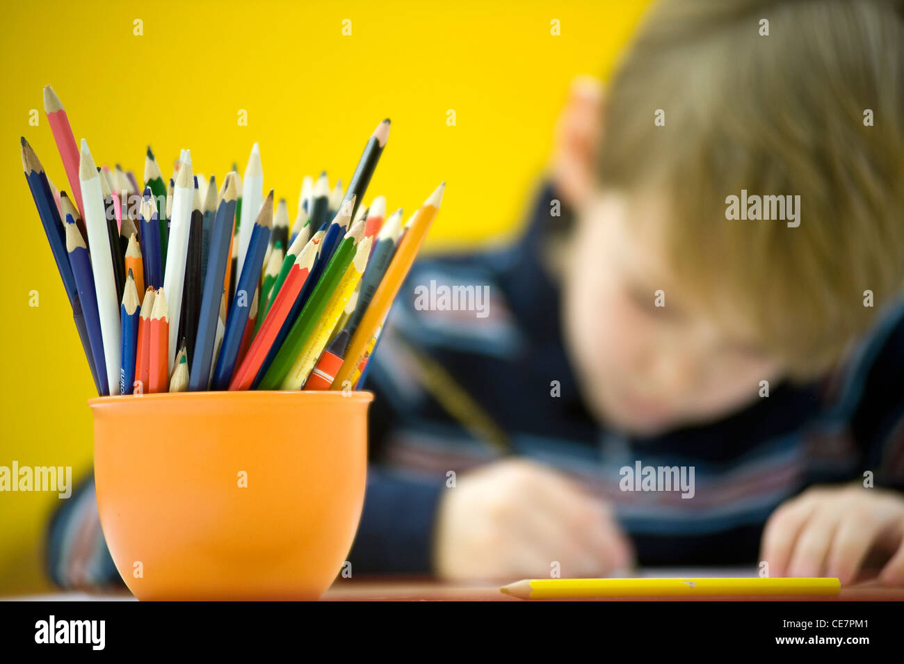 At primary school - Stock Image
