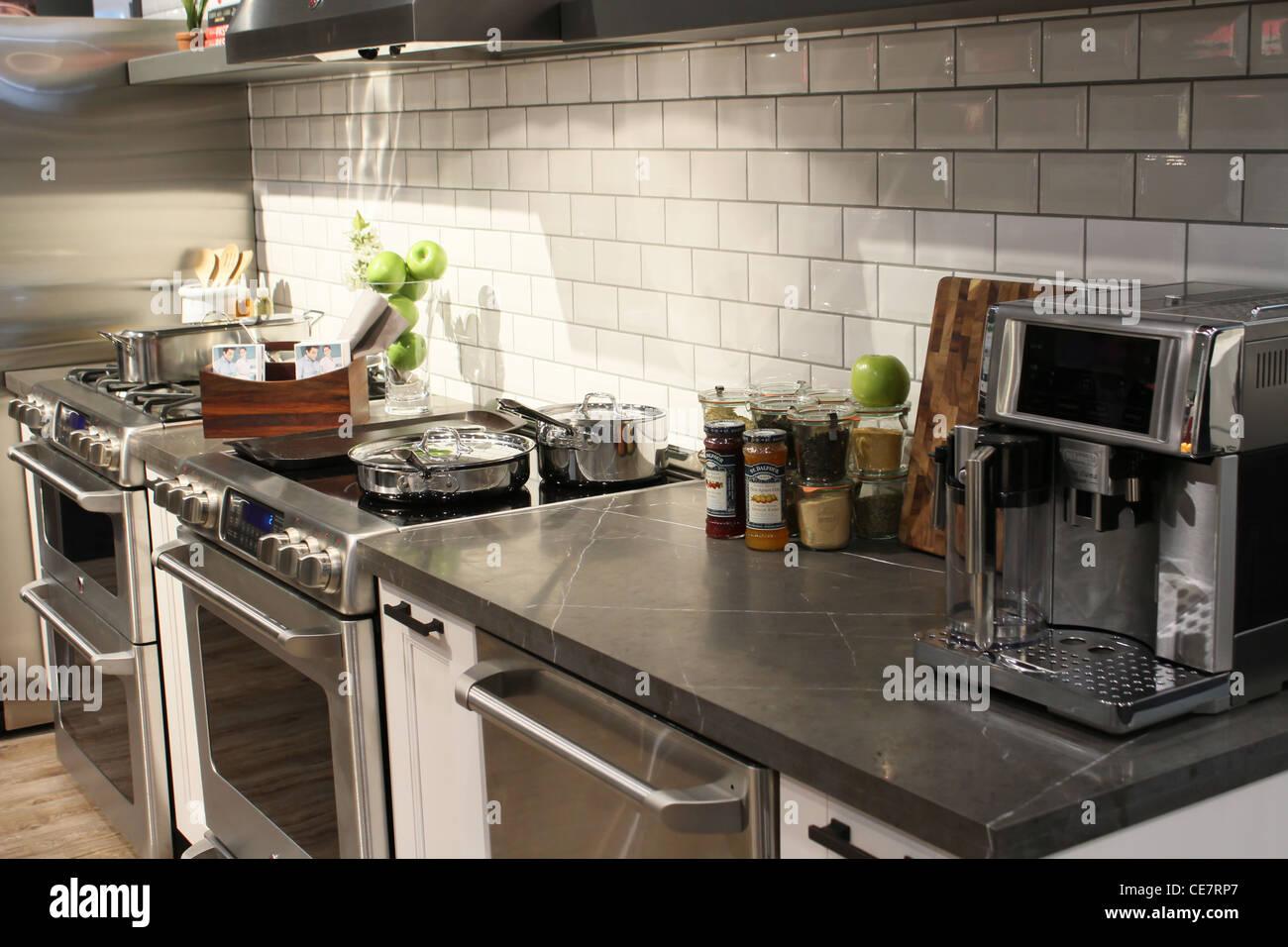 Modern Kitchen Luxury Stainless Steel Appliance Stock Photo Alamy