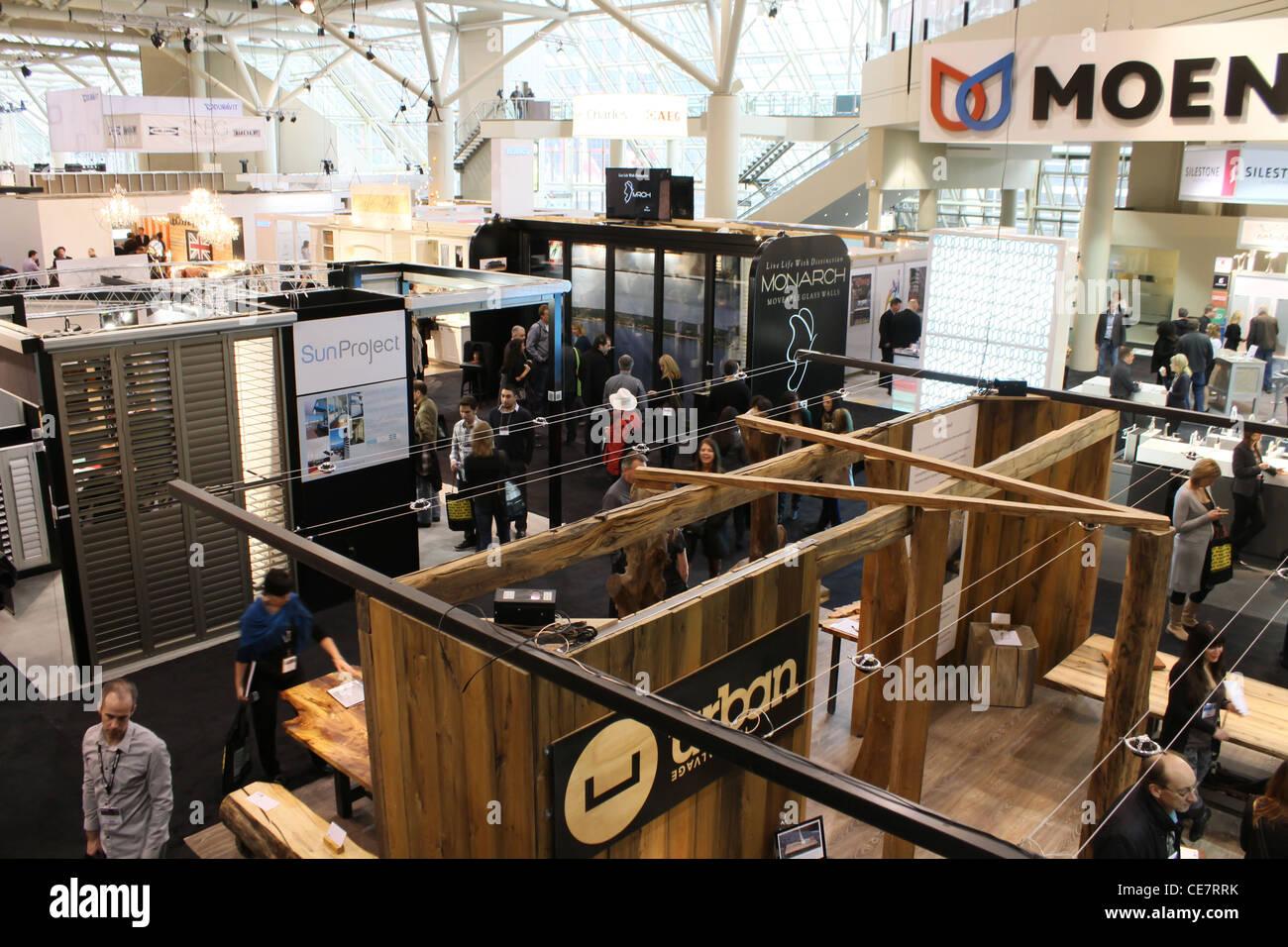 bird eye view consumer trade show - Stock Image
