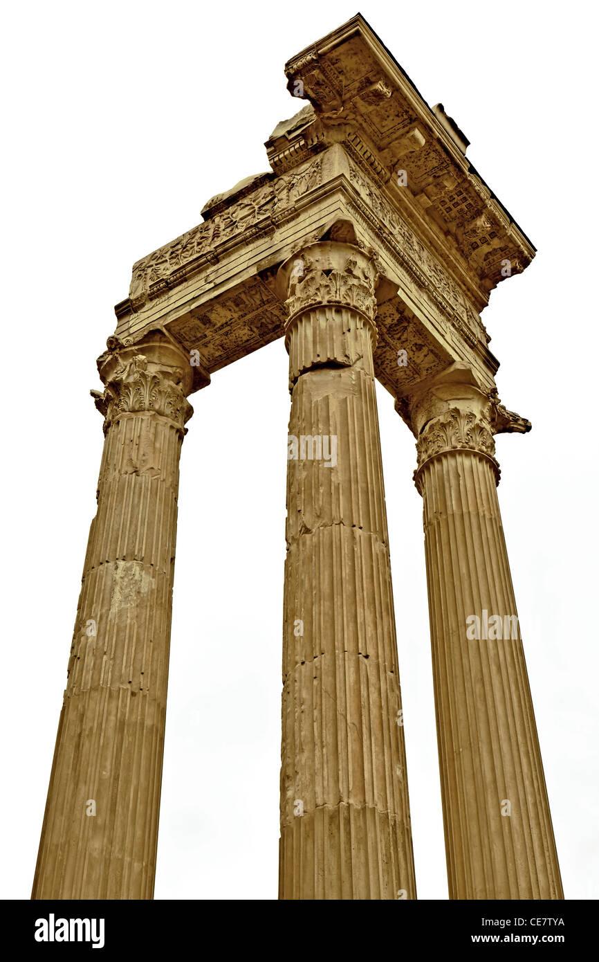 The Temple of Apollo Sosianus, also called the Temple of Apollo in Circo, located in Rome near Theatre of Marcellus. - Stock Image