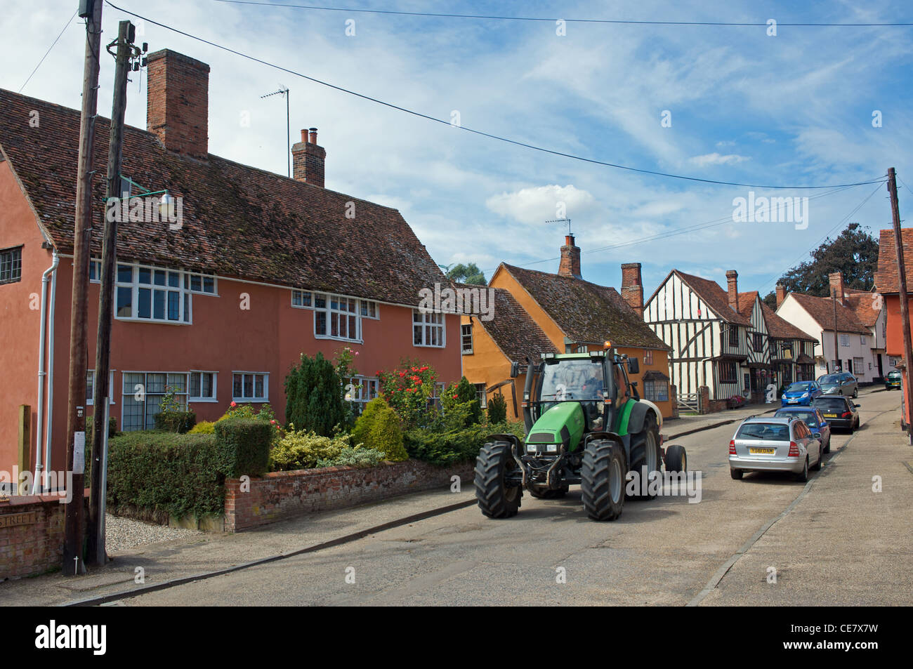 Kersey, Suffolk - Stock Image