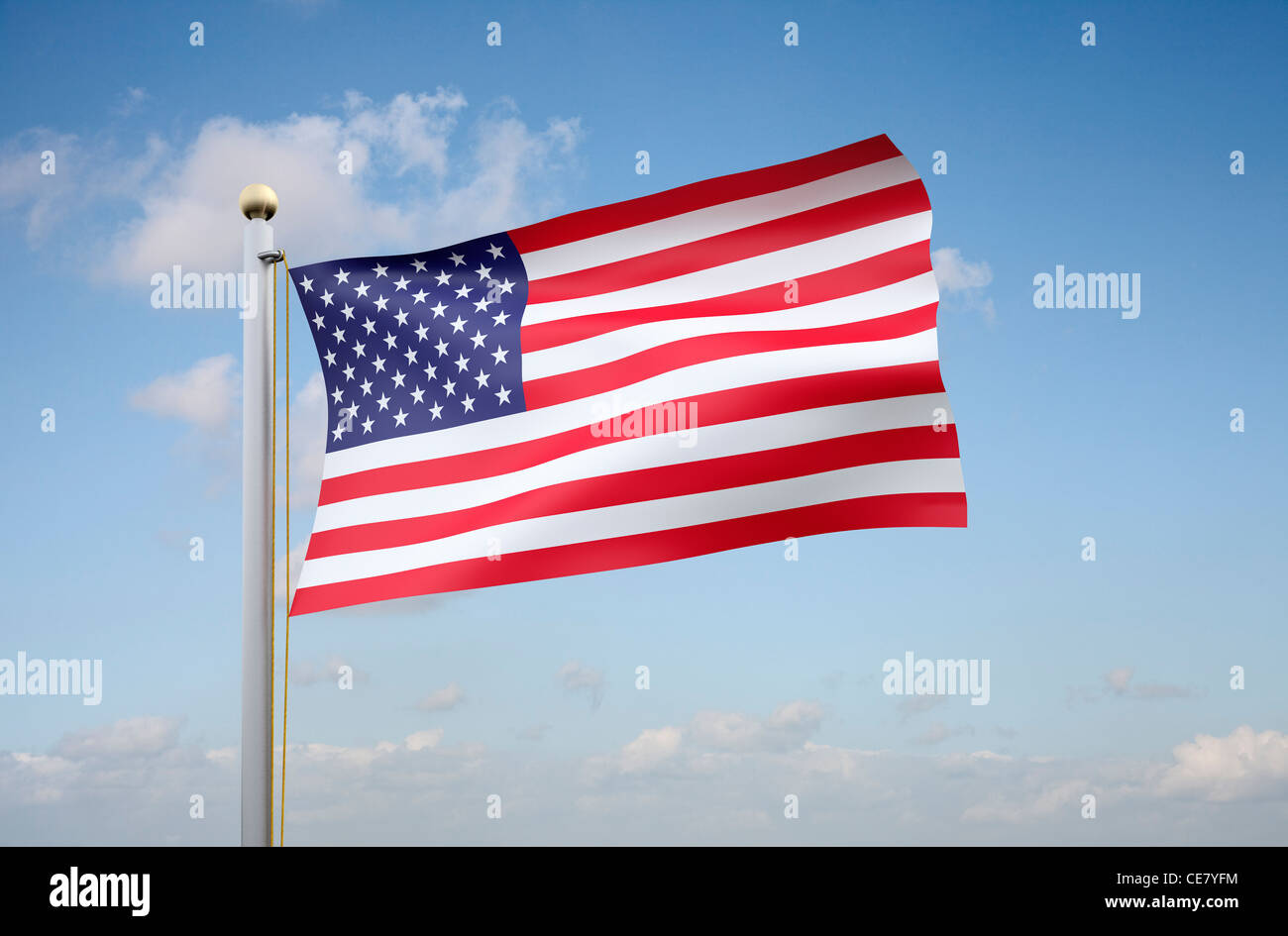Stars and Stripes - the American flag - Stock Image