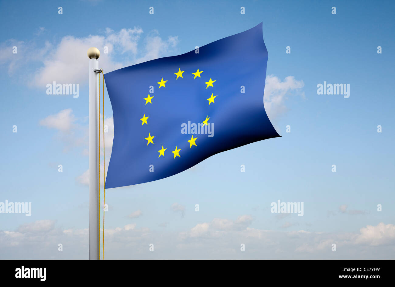 The flag of the European Union - Stock Image