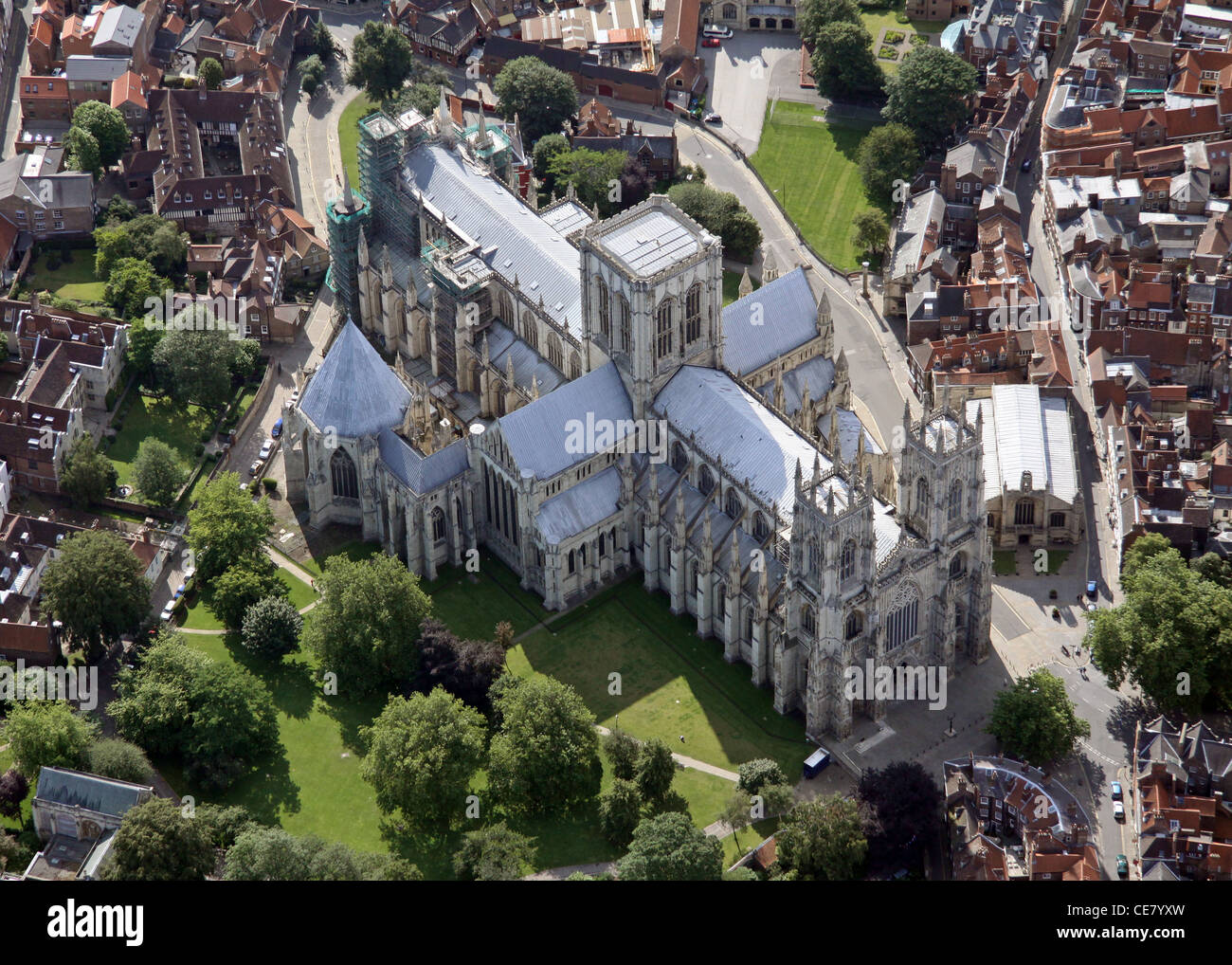 Aerial view of York Minster - Stock Image