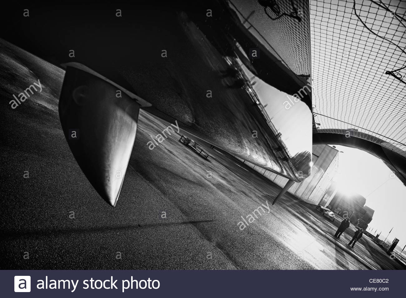 LORIENT, FR, JANUARY 26th 2012: MOD70 n°5 Spindrift racing construction, Lorient, France. - Stock Image