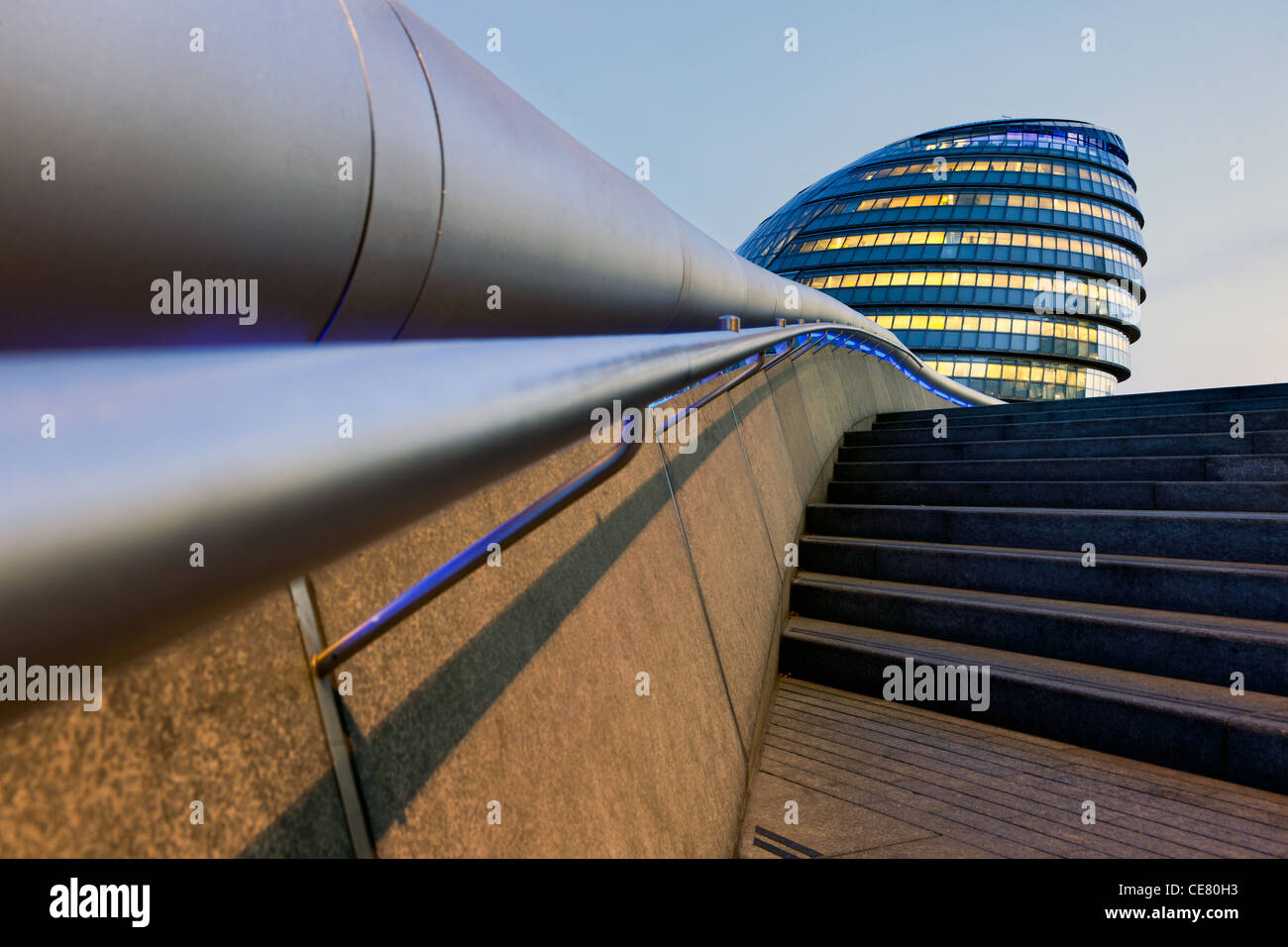 City Hall, London - headquarters of the Greater London Authority (GLA) which comprises the Mayor of London and London - Stock Image