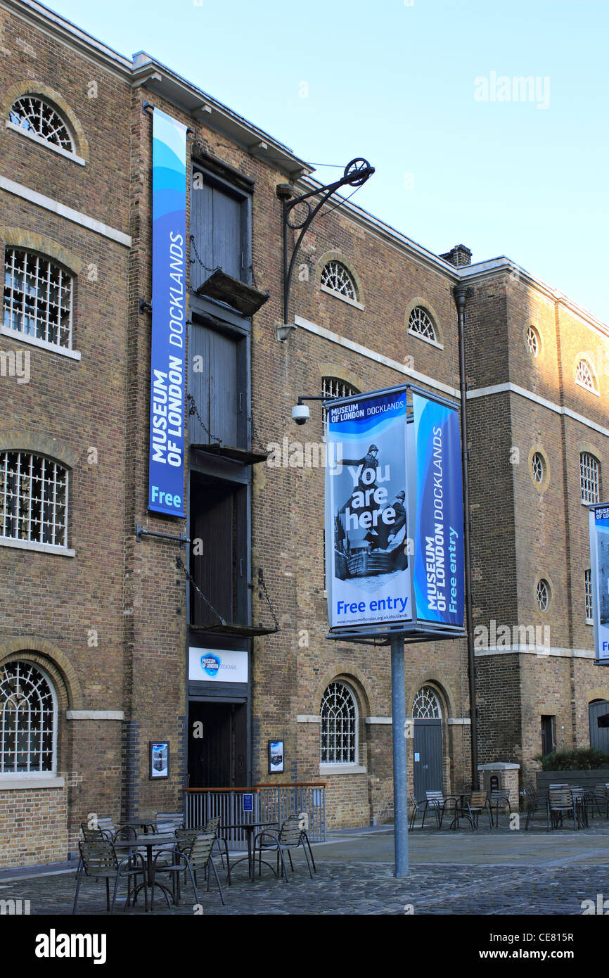 Museum of London West India Quay, Canary Wharf Docklands London England UK - Stock Image