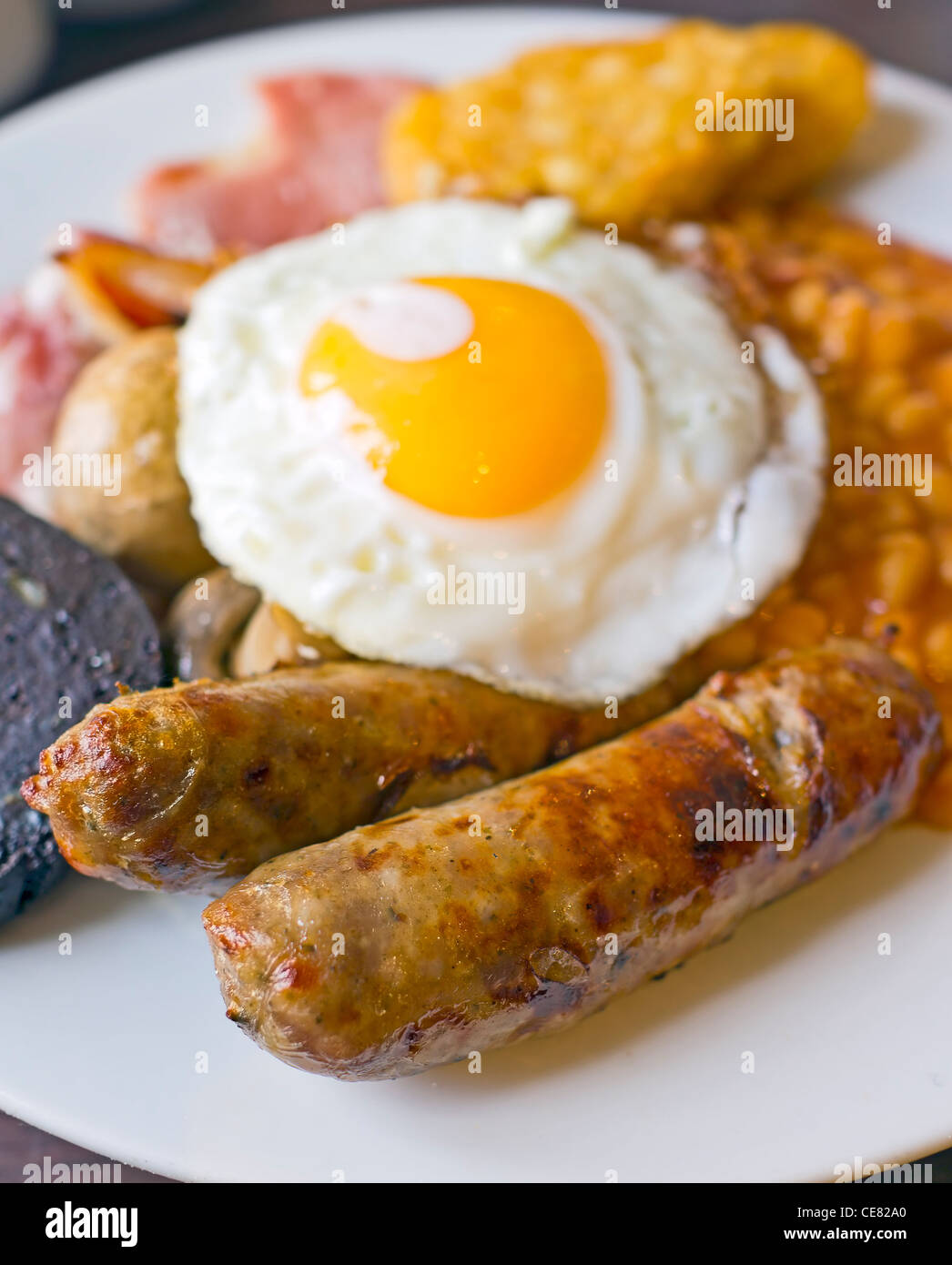 A full cooked breakfast. - Stock Image