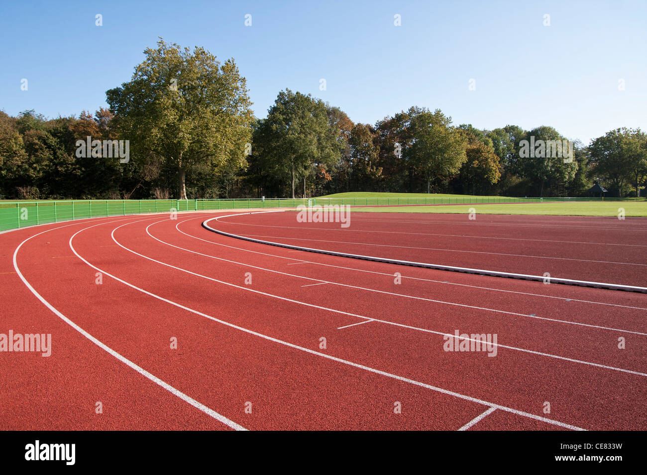 Running track lines on a sunny day Stock Photo