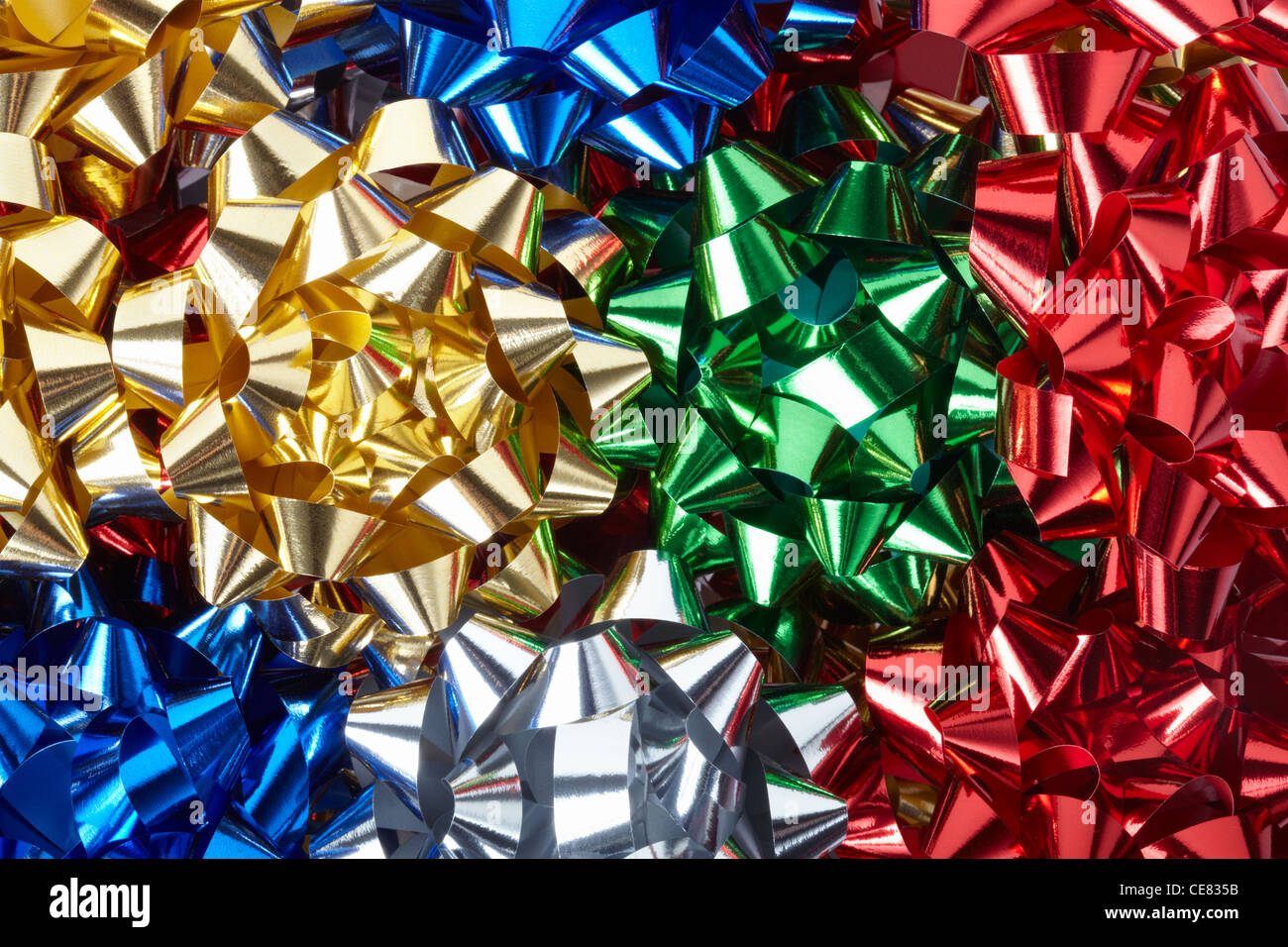 Gift bows background - Stock Image
