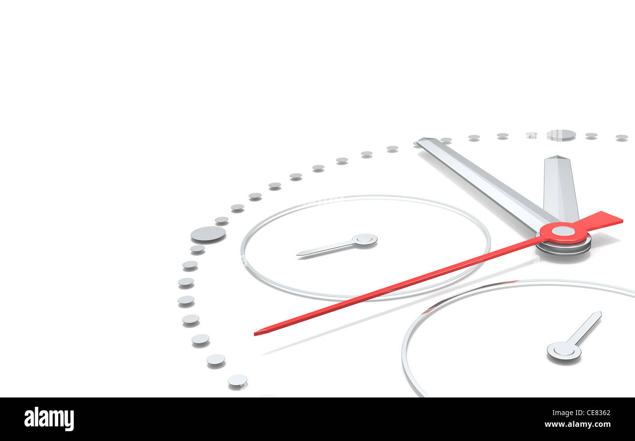 Perspective view of a chronograph clock. - Stock Image