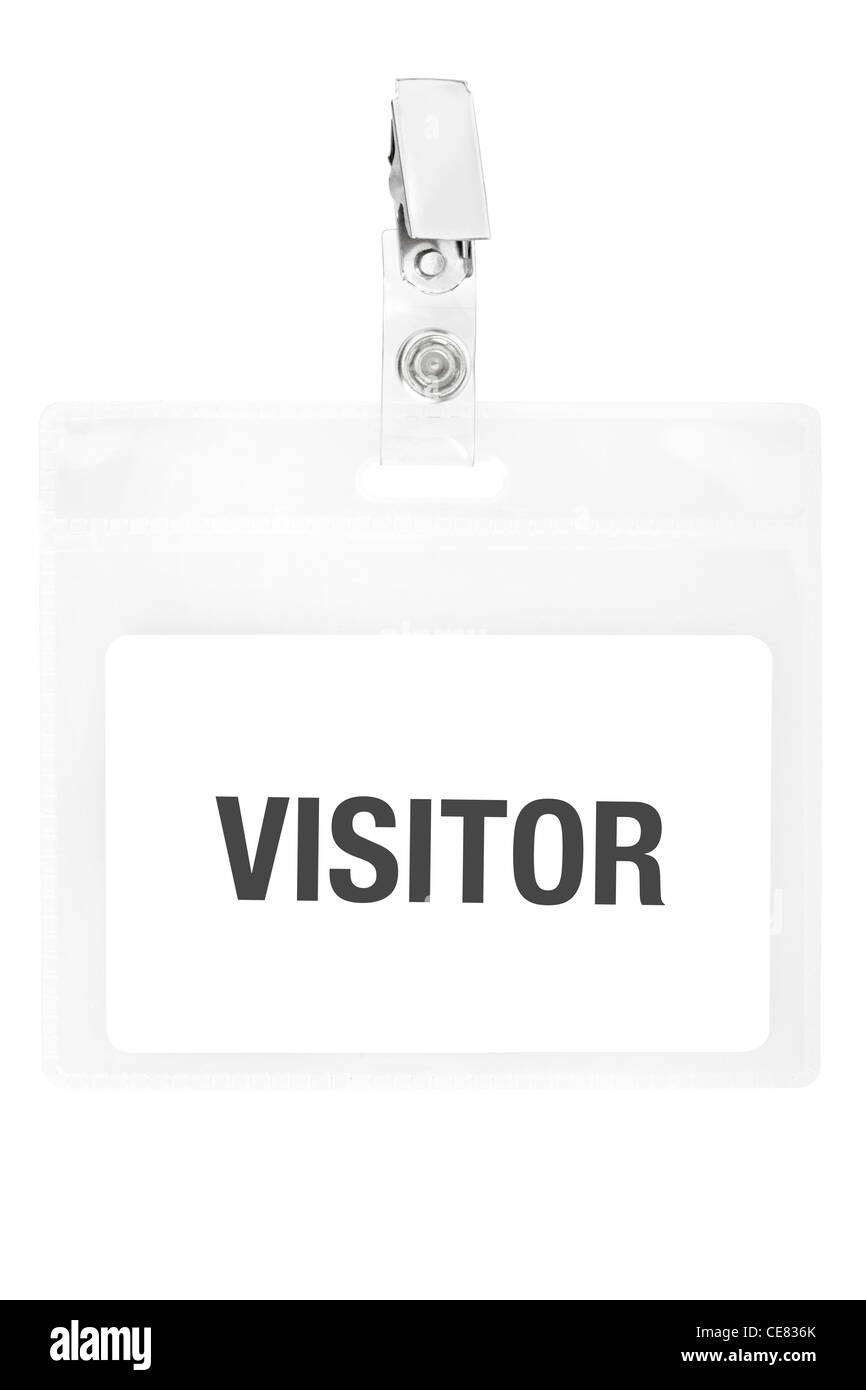Visitor badge - Stock Image