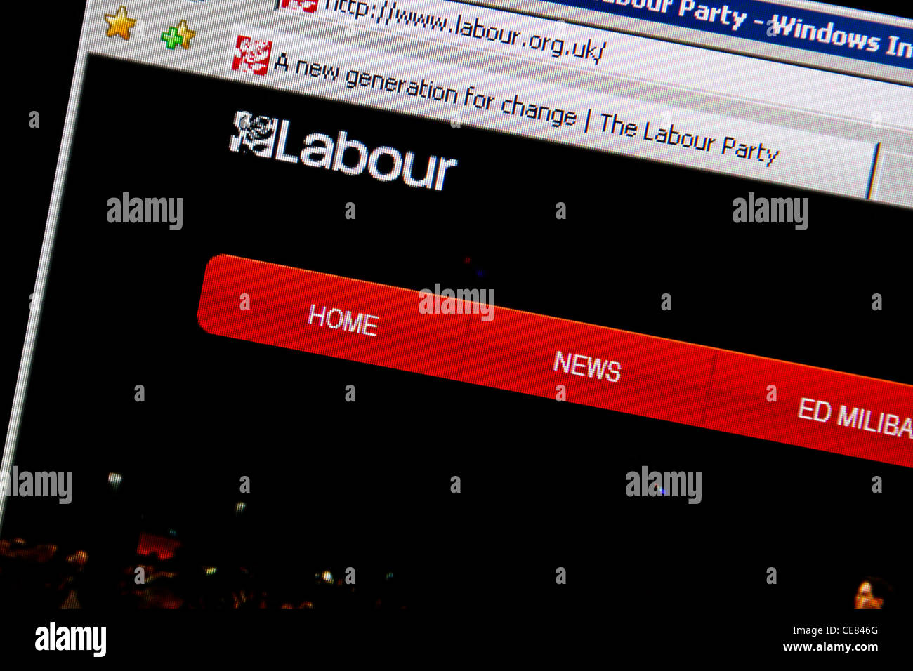 labour party website - Stock Image