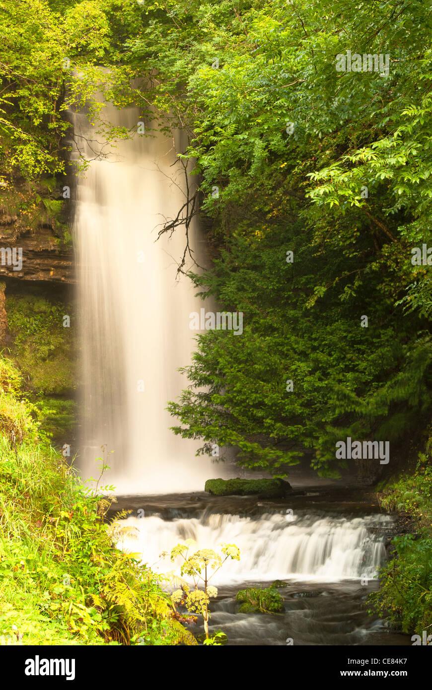 Glencar Waterfall - Stock Image