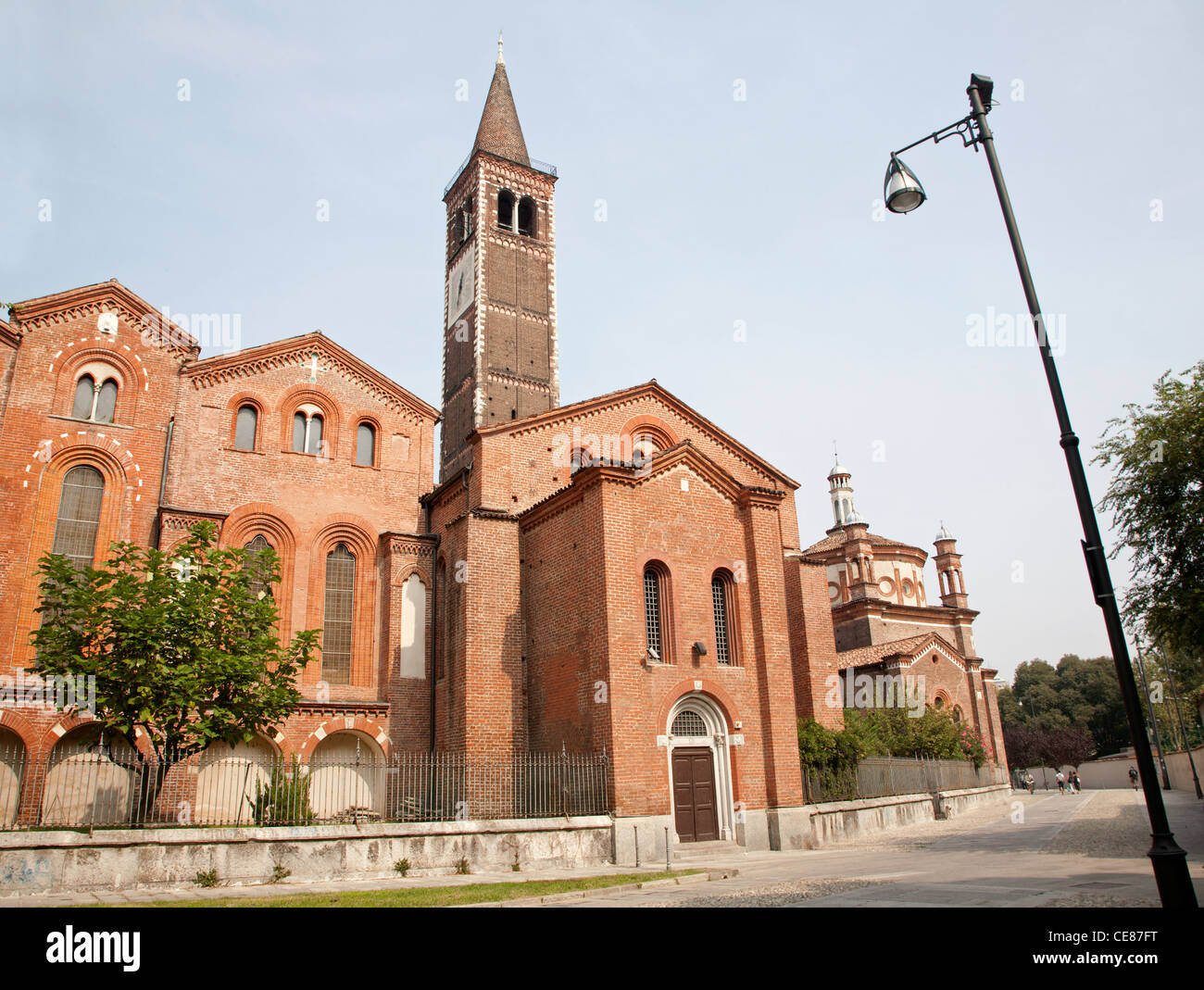 Milan - San Eustorgio church - Stock Image