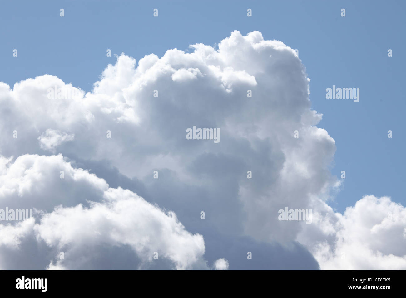 cumulonimbus clouds in late summer getting ready for a heavy shower - Stock Image