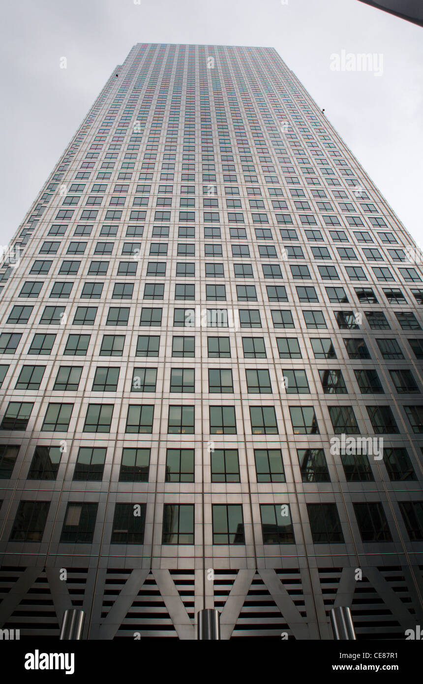 London - Canary warf tower - Stock Image