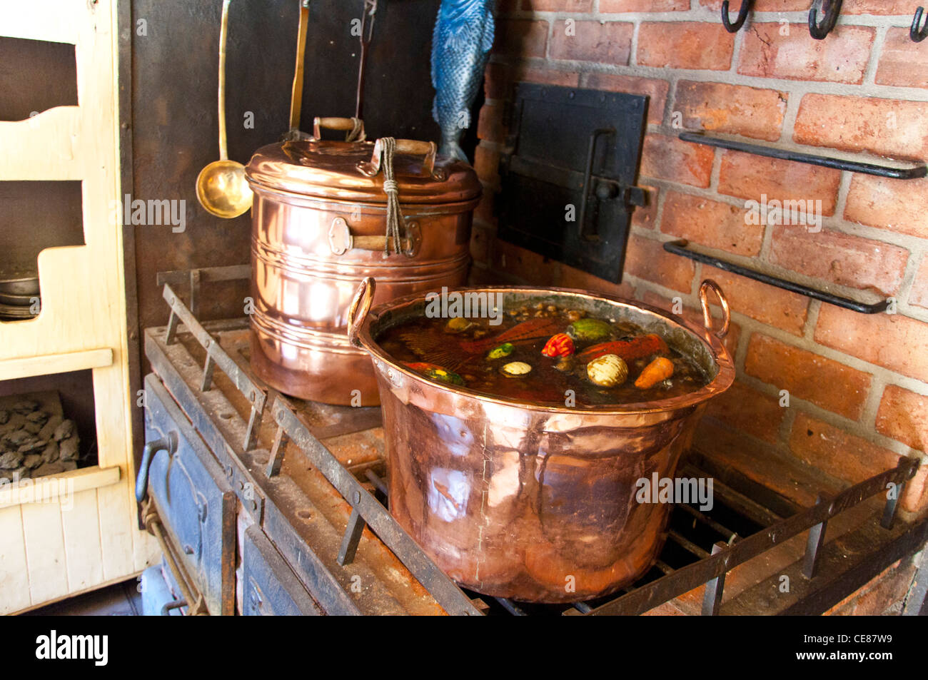 Copper Pots High Resolution Stock Photography And Images Alamy