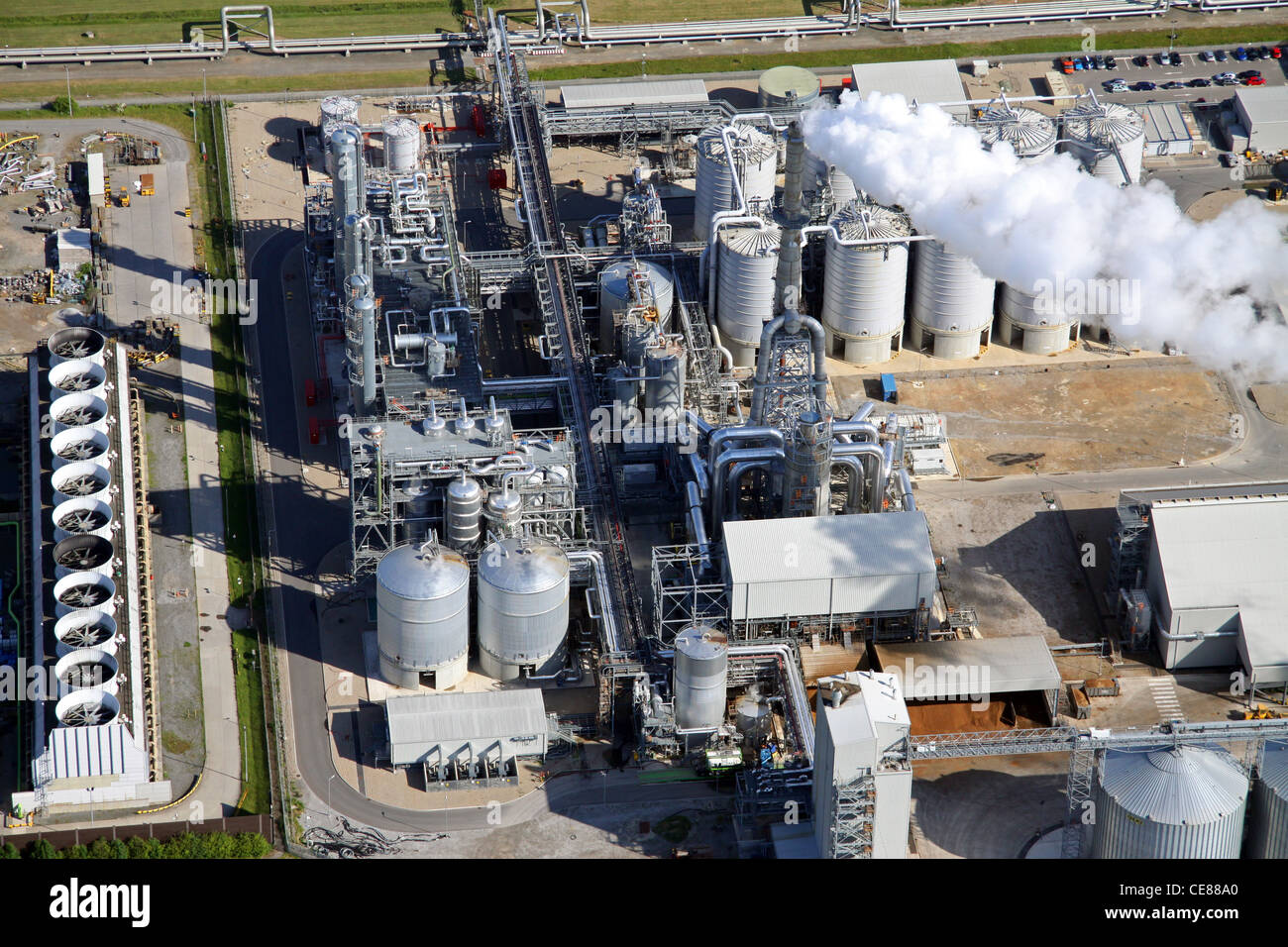 Aerial photograph of the Ensus chemical works at Wilton, Teesside - Stock Image