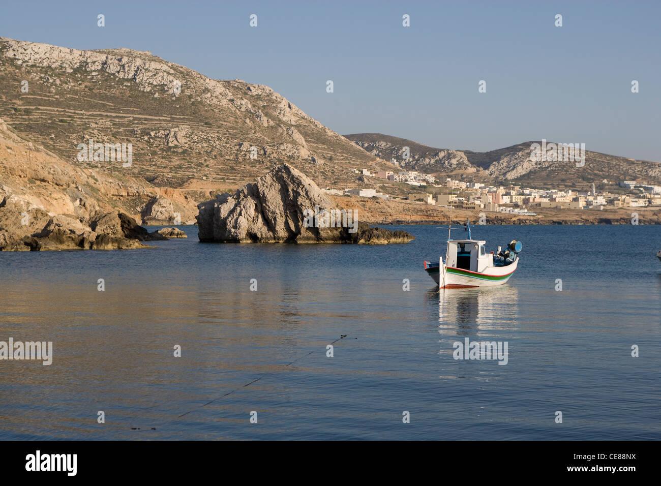 Karpathos: Finiki - fishing boat Stock Photo
