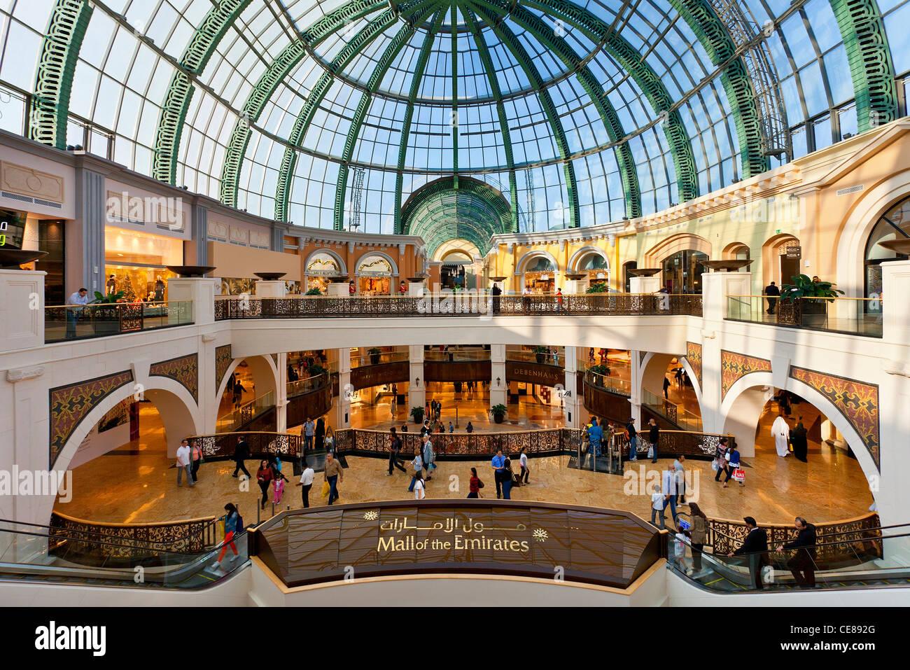 Asia, Arabia, Dubai Emirate, Dubai, the Mall of Emirates - Stock Image