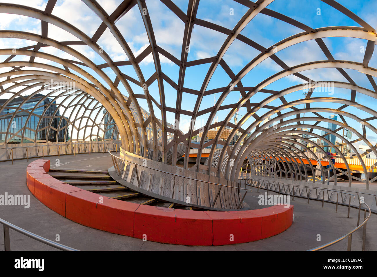 Webb Bridge in Melbourne Docklands - Stock Image