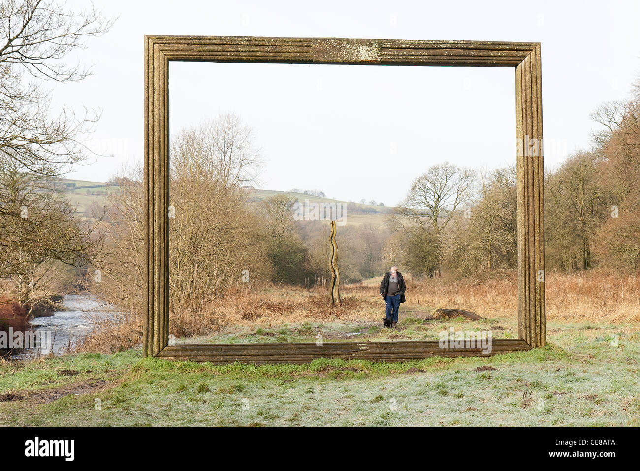 Picture Frame - Irwell Valley Sculpture Trail, Lancashire Stock Photo