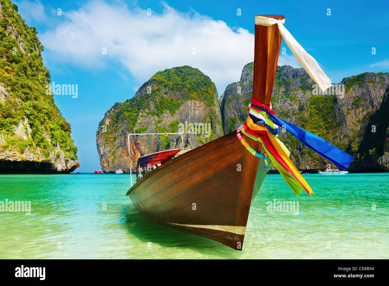 Tropical beach, Maya Bay, Andaman Sea,Thailand - Stock Image