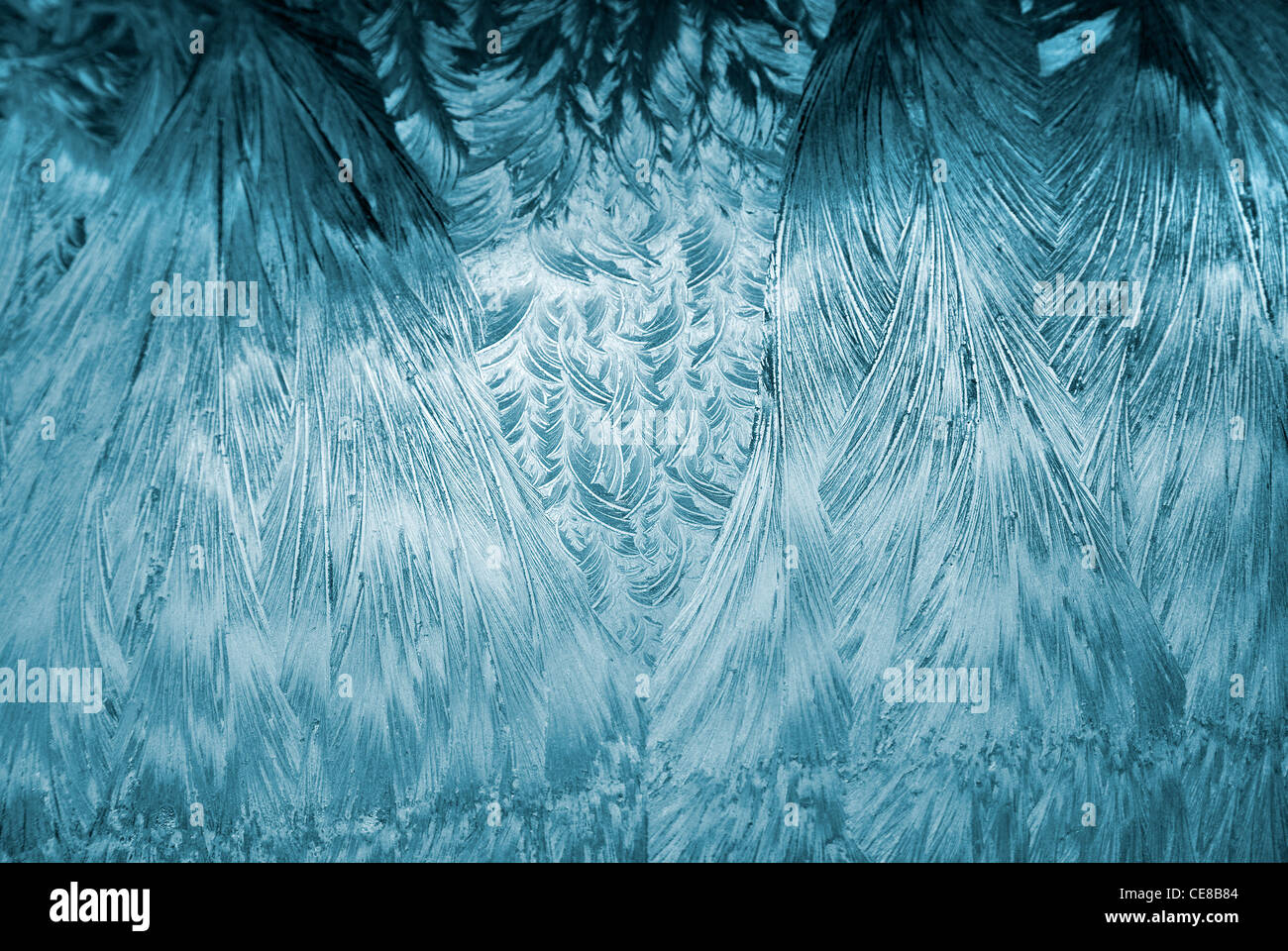 Hoarfrost on my car, midwinter morning 5 - Stock Image