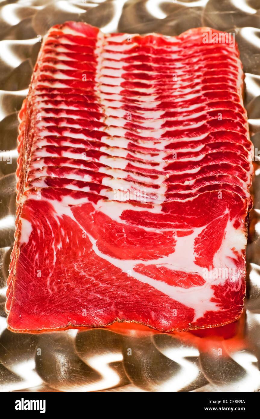 bacon of Switzerland - Stock Image