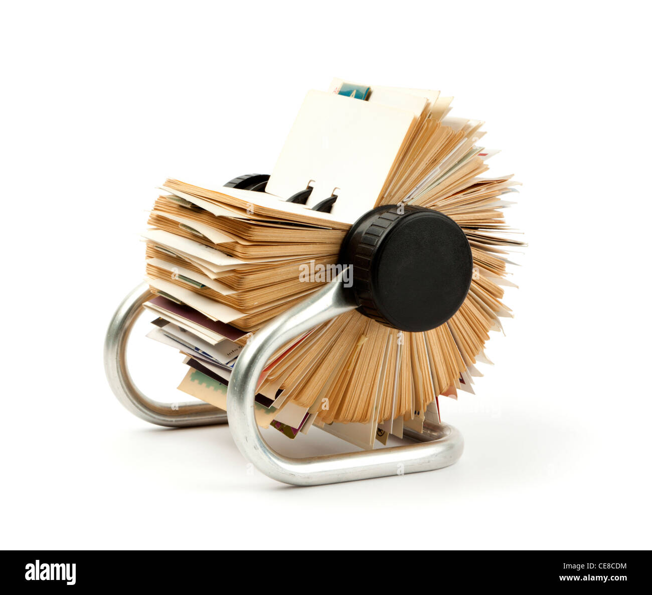 traditional rolodex rotary card file holder - Stock Image