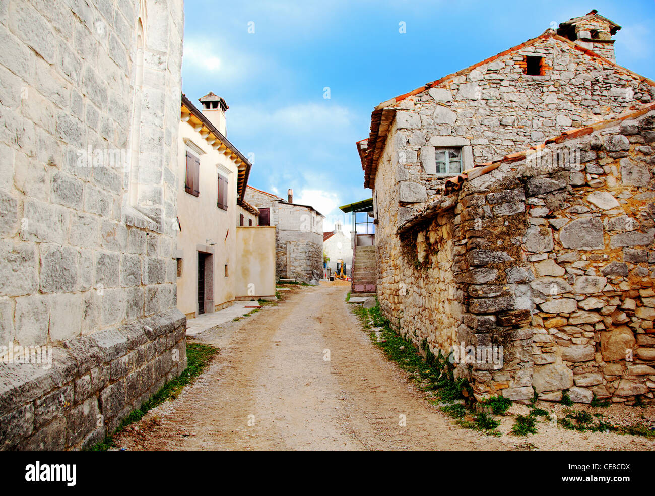 Old Buildings In Typical Medieval Italian village - Stock Image