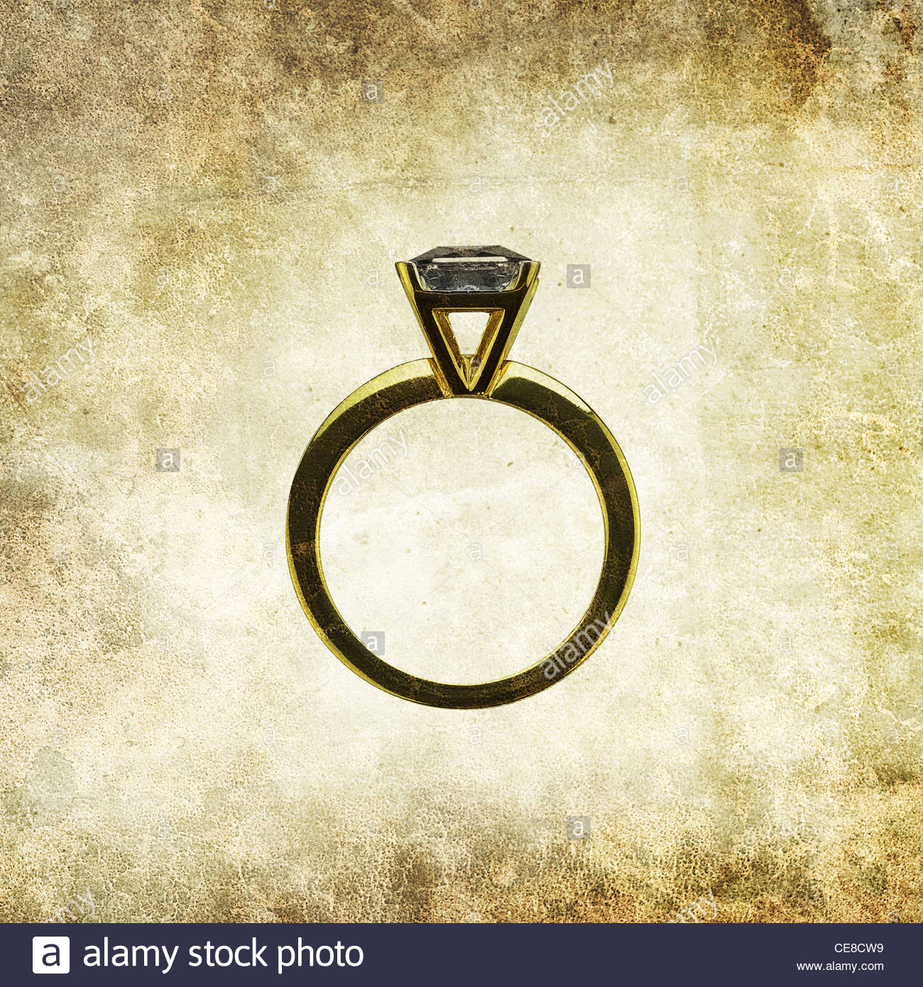 antique wedding ring - Stock Image