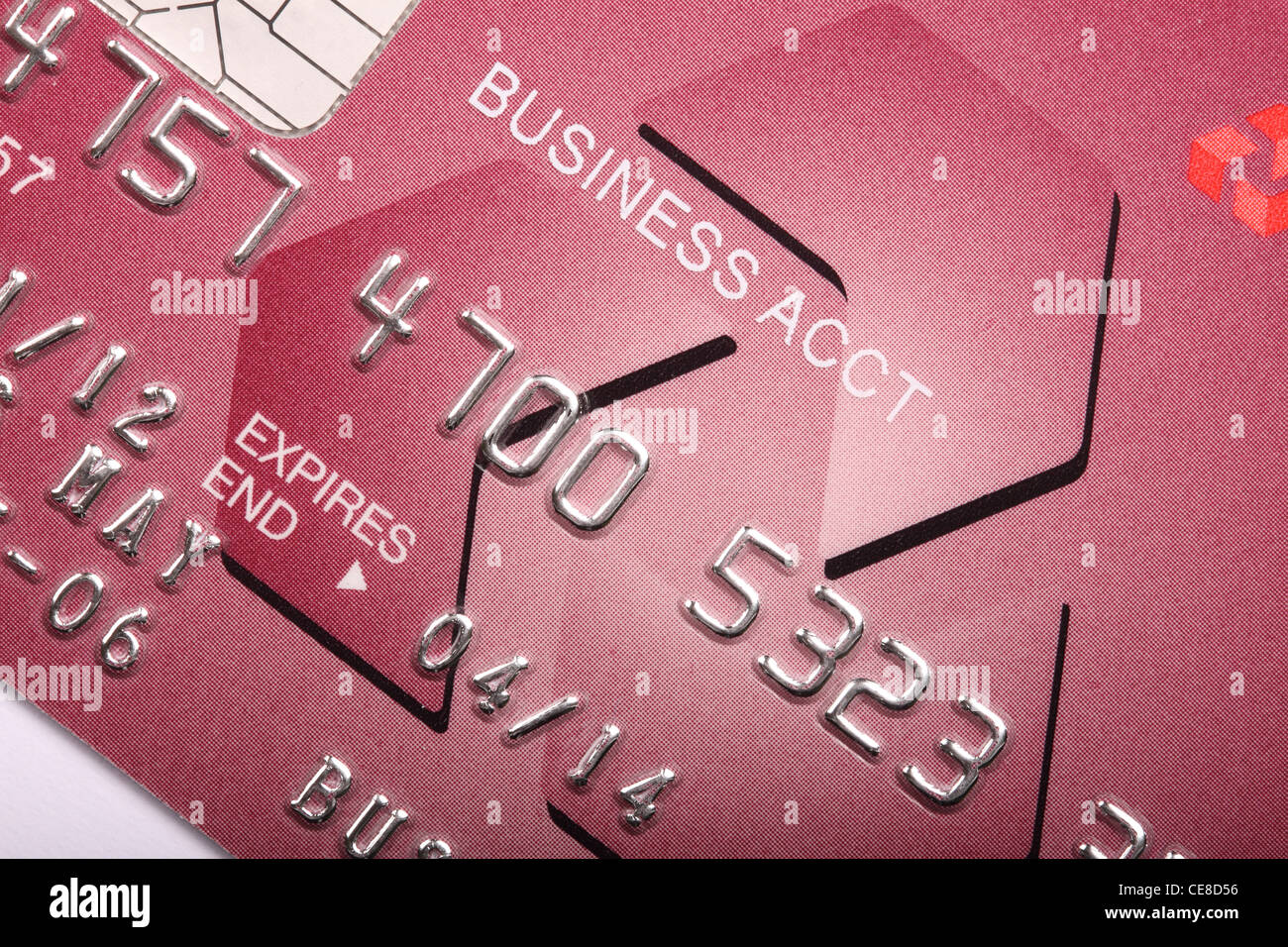 Business company account credit card UK Nat West - Stock Image