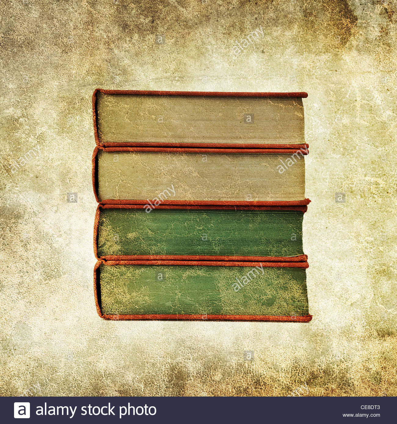 old book pile - Stock Image