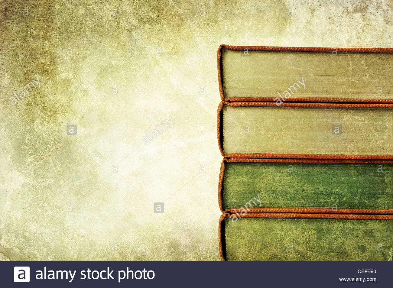 old book pile Stock Photo