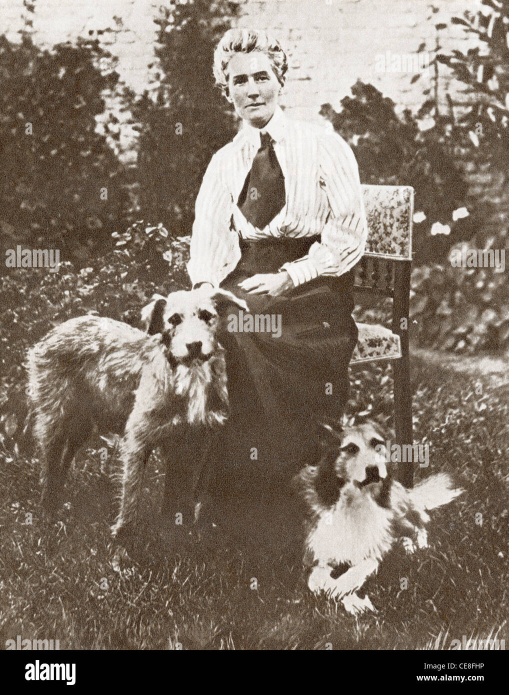 Edith Louisa Cavell, 1865 – 1915. British nurse and patriot, executed by the Germans - Stock Image