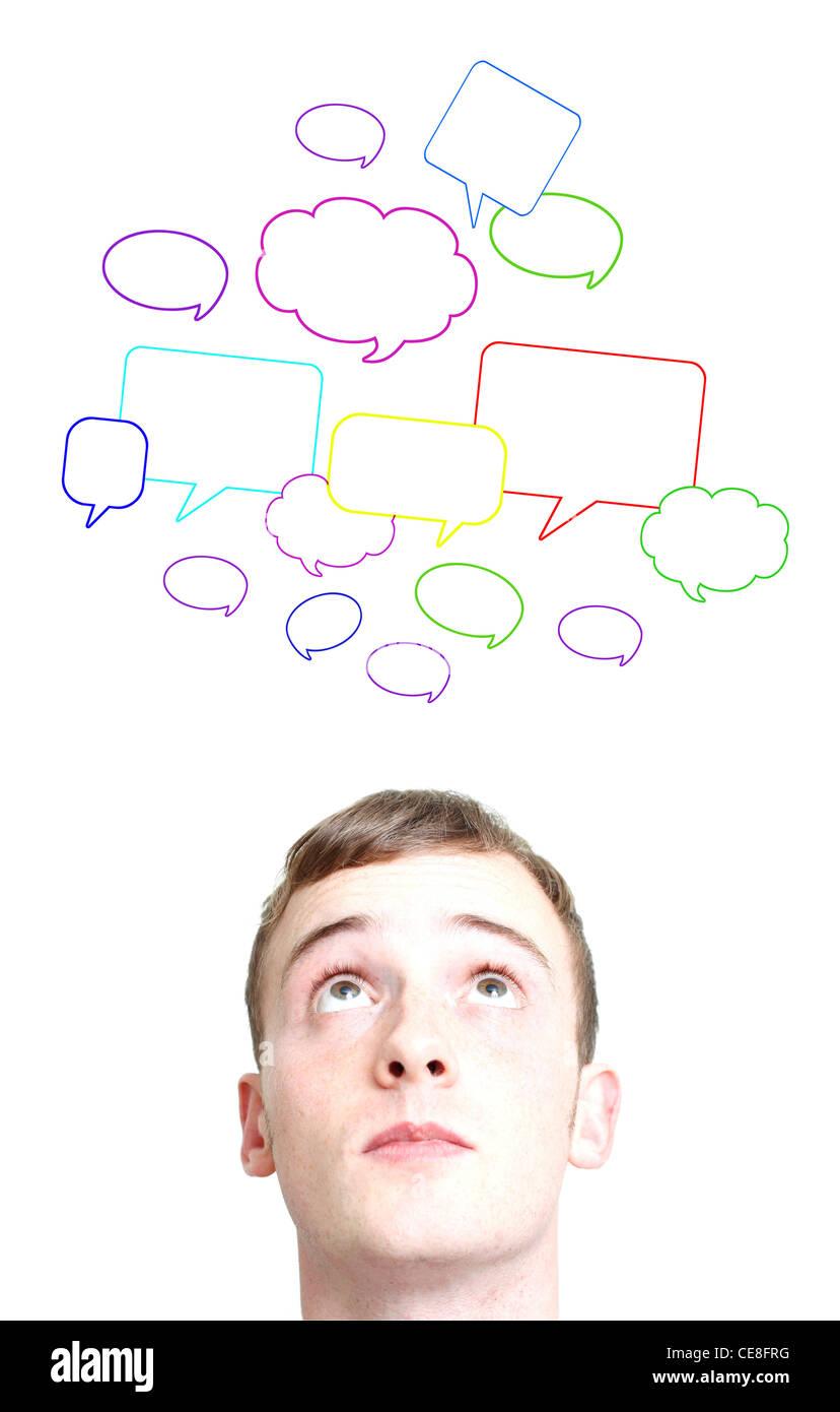Social conversations - Stock Image