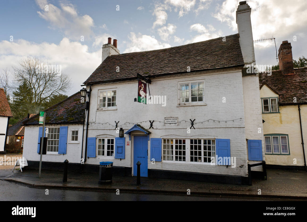 The Swan Inn public house at West Wycombe Bucks UK - Stock Image
