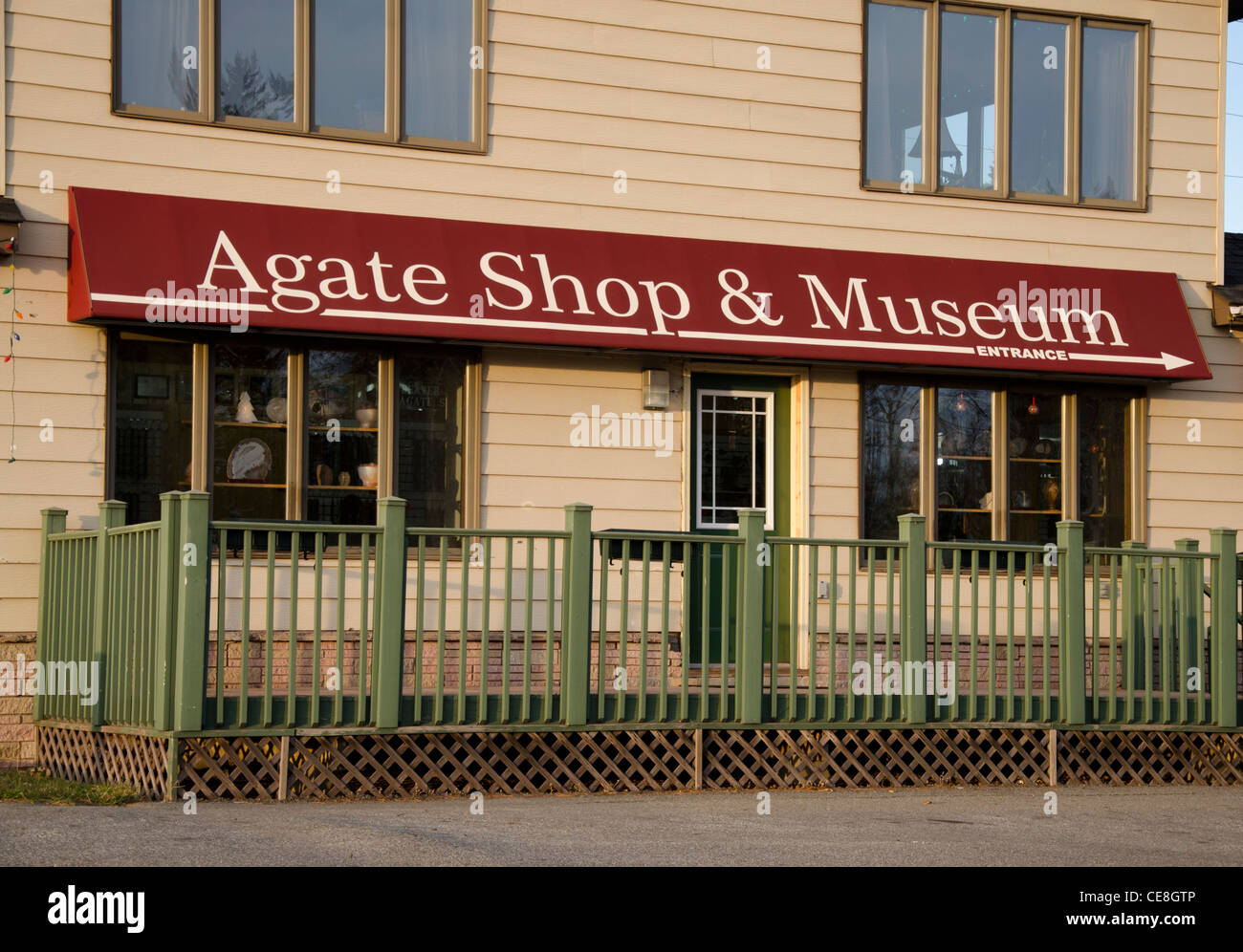 The Agate Shop and Museum in Beaver Bay, Minnesota - Stock Image
