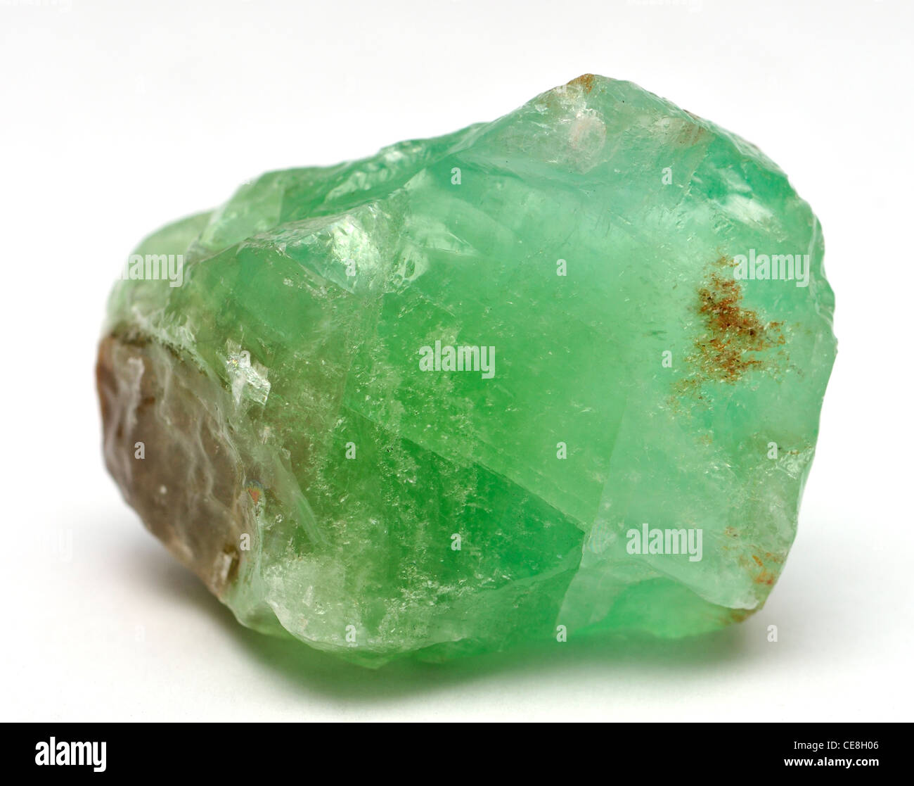 Green Calcite (from Mexico) - Stock Image