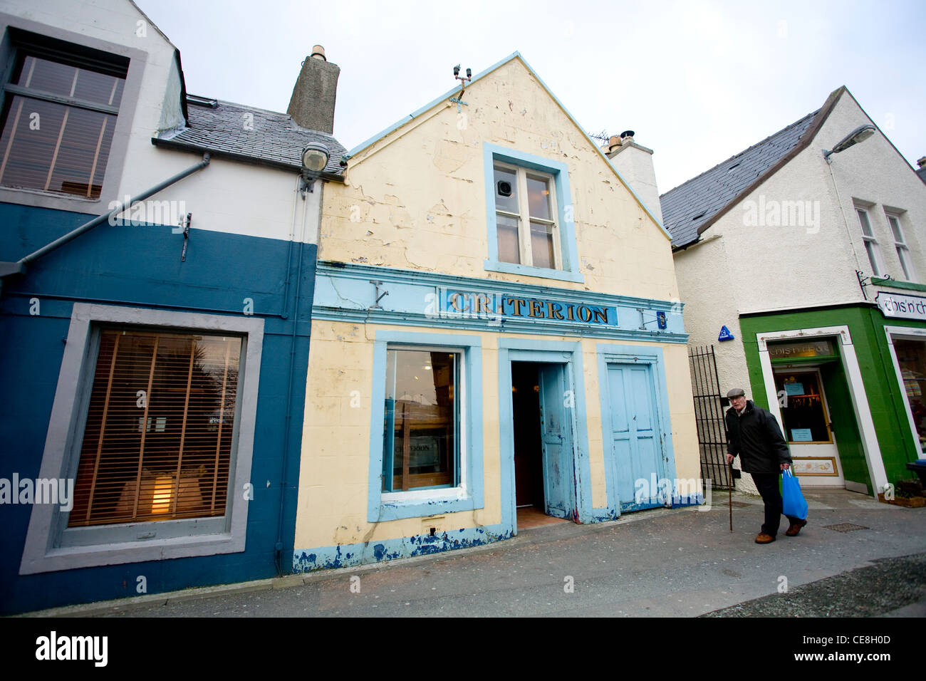Criterion Bar, Stornoway, Isle of Lewis, Outer Hebrides, Scotland. - Stock Image