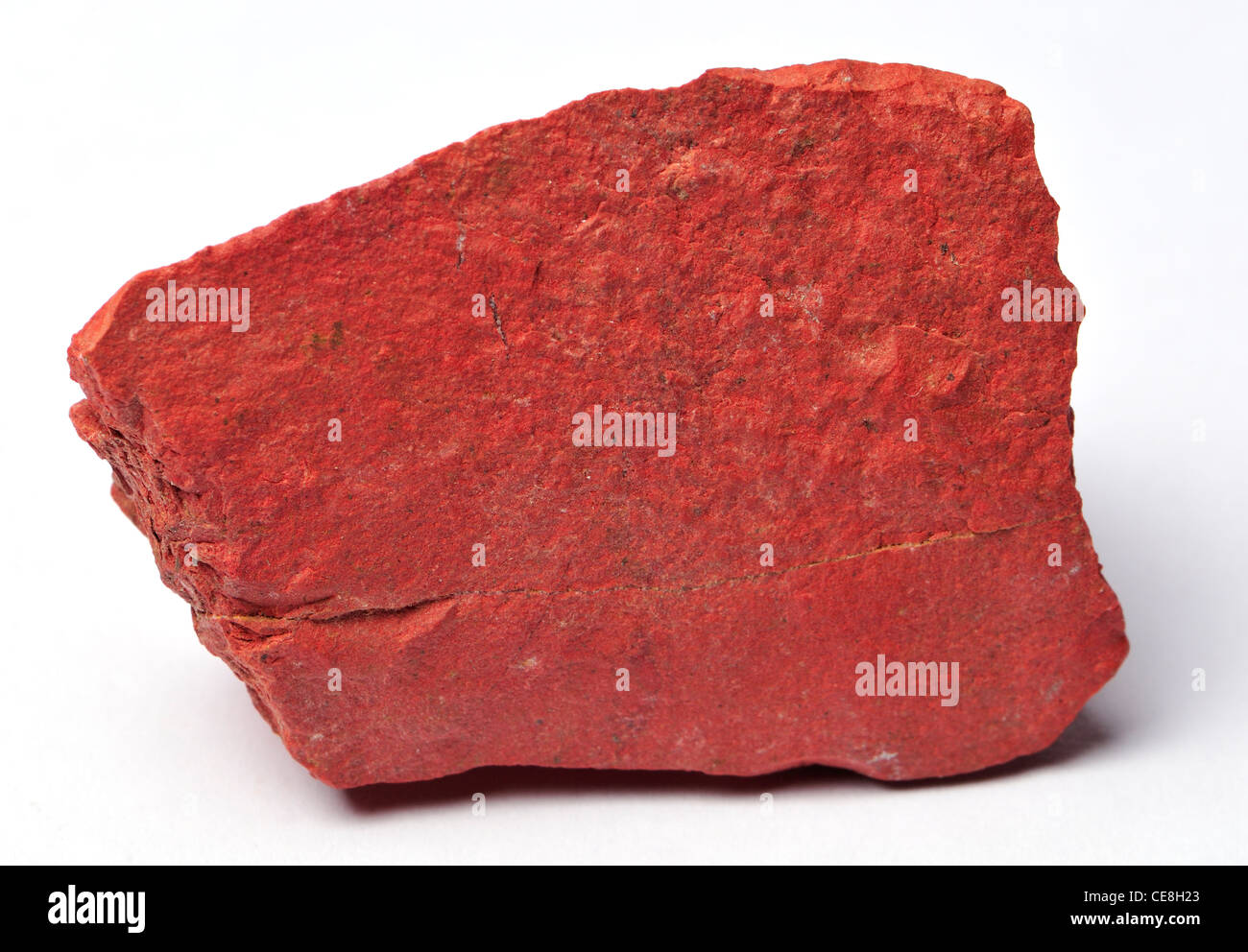 Red Jasper (from South Africa) opaque cryptocrystalline quartz - Stock Image