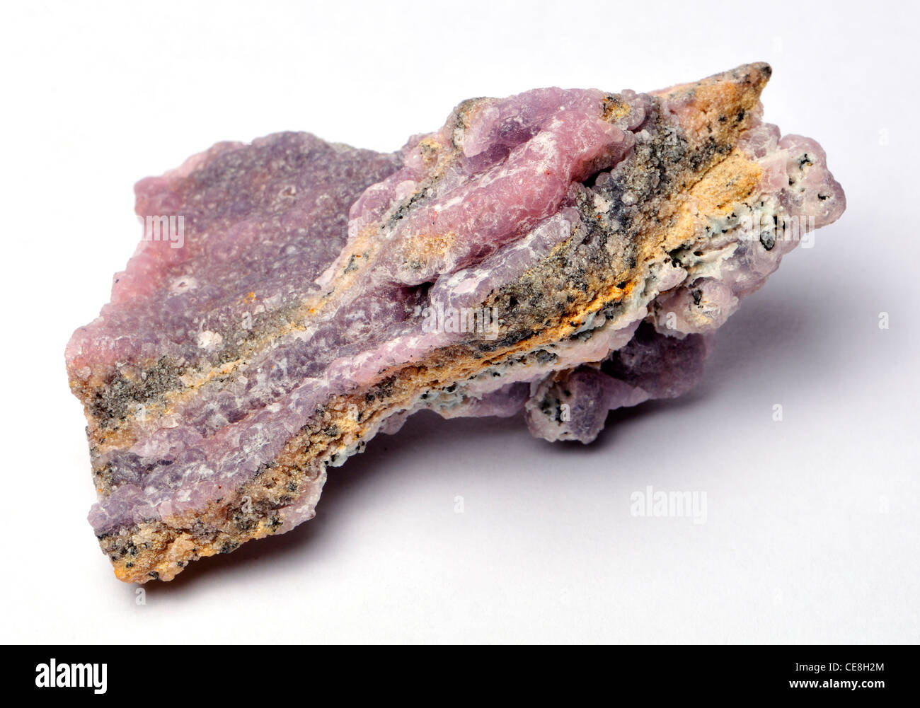 Pink Smithsonite (from Sinaloa, Mexico) zinc carbonate - Stock Image