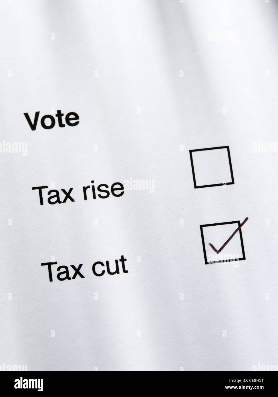 Vote for tax cut. - Stock Image