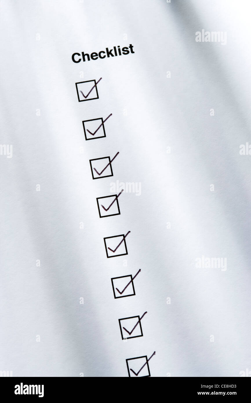 Checklist, all done - Stock Image