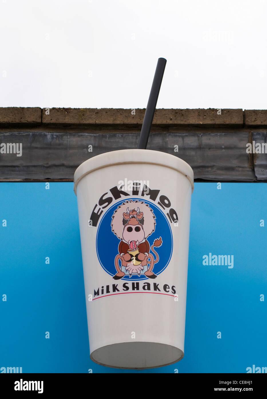 A big Eskimoo milkshake sign - Stock Image