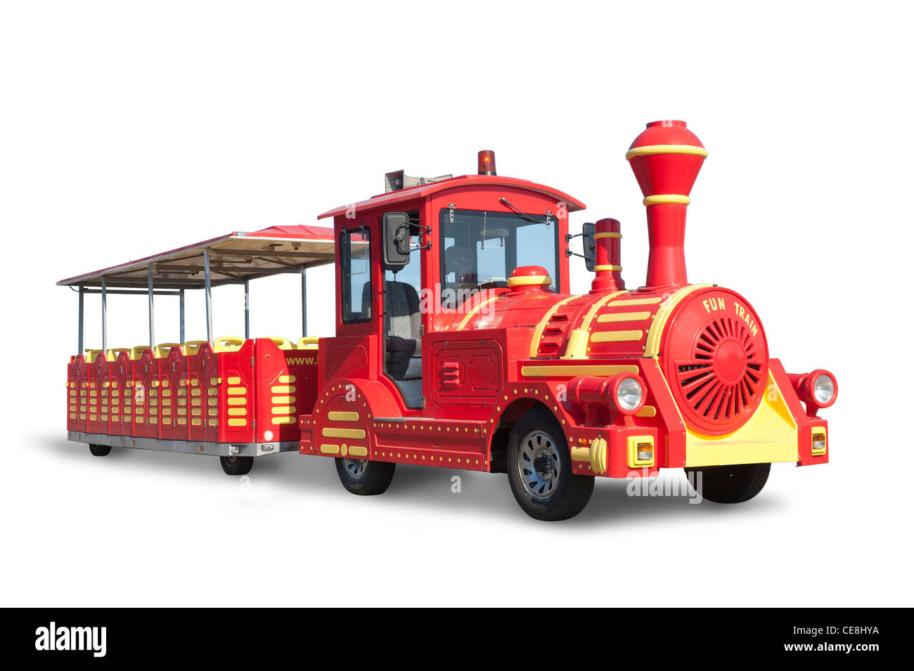 Touristic Train fake old style locomotive - Stock Image