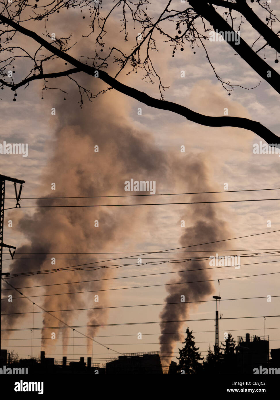Air pollution,Singen,Baden-Wurttemberg,Germany - Stock Image