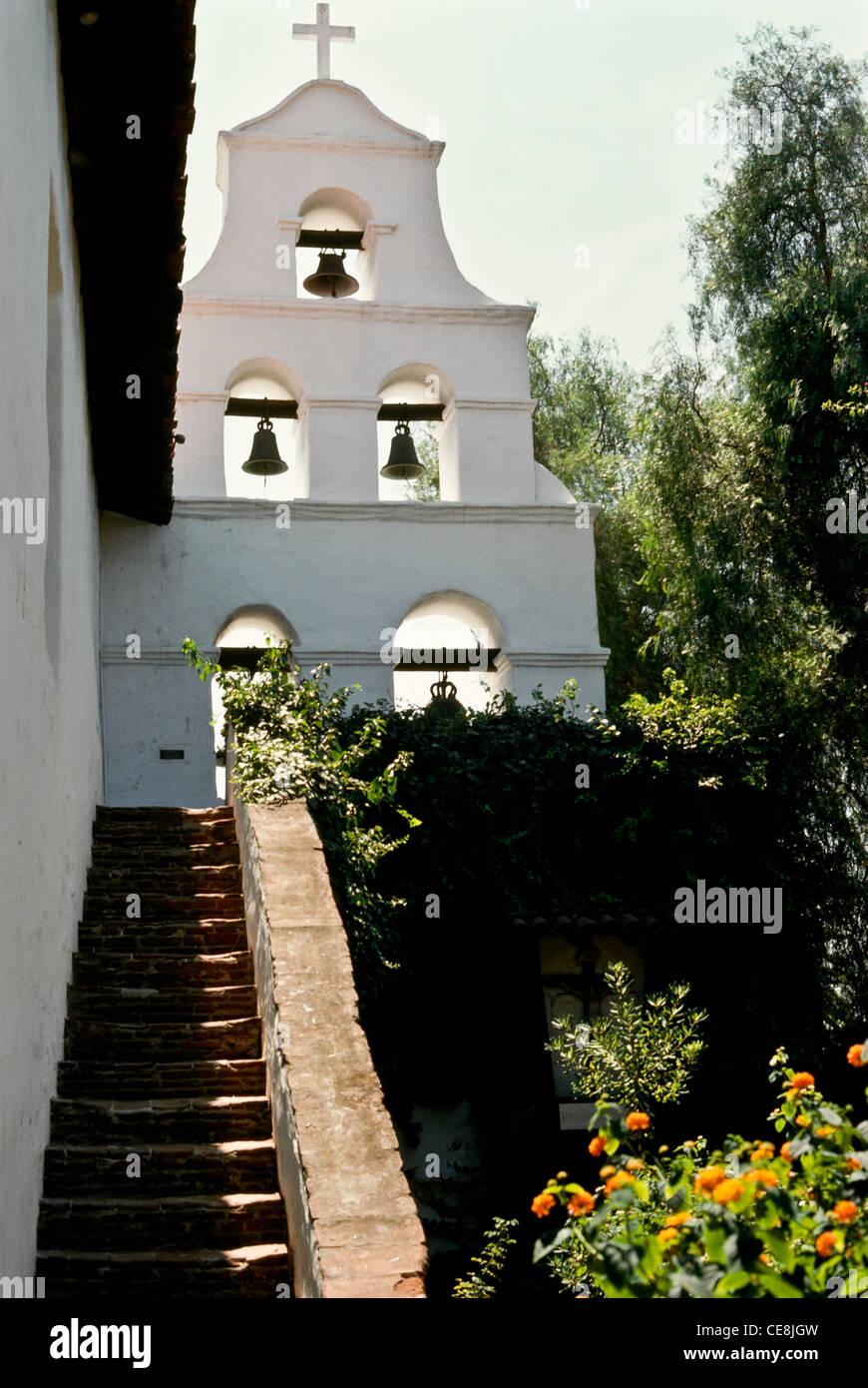 Mission San Diego de Alcalá, California, USA - Stock Image